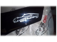 Дефлектор капота Peugeot Partner I /2002-2008, FL, короткий/. Мухобойка Пежо Партнер [Vip Tuning]