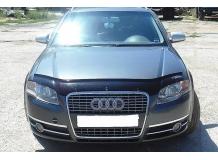 Дефлектор капота Audi A4 (B8) /2008-2012/. Мухобойка Ауди А4 [Vip Tuning]