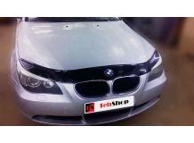 Дефлектор капота BMW 5 (E60) /2003-2010/. Мухобойка БМВ 5 [Vip Tuning]