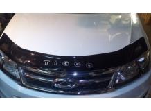 Дефлектор капота Chery Tiggo 5 /2013+/. Мухобойка Чери Тигго [Vip Tuning]