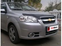 Дефлектор капота Chevrolet Aveo I (T250) /2005-2011, Седан, FL/. Мухобойка Шевроле Авео [Vip Tuning]
