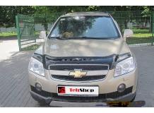 Дефлектор капота Chevrolet Captiva /2006-2011/. Мухобойка Шевроле Каптива [Vip Tuning]