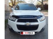 Дефлектор капота Chevrolet Captiva /2011+/. Мухобойка Шевроле Каптива [Vip Tuning]