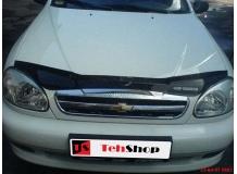 Дефлектор капота Chevrolet Lanos /2005-2009/. Мухобойка Шевроле Ланос [Vip Tuning]