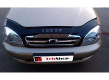 Дефлектор капота Chevrolet Lanos /с реш. рад., 2005-2009/. Мухобойка Шевроле Ланос [Vip Tuning]