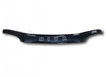 Дефлектор капота Chevrolet Niva /2002+/. Мухобойка Шевроле Нива [Vip Tuning]