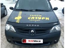 Дефлектор капота Dacia Logan I /2004-2013/. Мухобойка Дачия Логан [Vip Tuning]