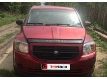 Дефлектор капота Dodge Caliber /2006-2012/. Мухобойка Додж Калибер [Vip Tuning]