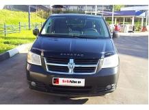 Дефлектор капота Dodge Caravan V /2007-2011/. Мухобойка Додж Караван [Vip Tuning]
