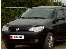Дефлектор капота Fiat Albea /2007-2012/. Мухобойка Фиат Албеа [Vip Tuning]