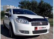 Дефлектор капота Fiat Linea /2007+/. Мухобойка Фиат Линеа [Vip Tuning]