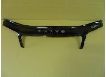 Дефлектор капота Fiat Punto II (188) /FL, 2003-2007/. Мухобойка Фиат Пунто [Vip Tuning]