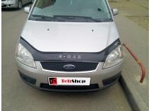 Дефлектор капота Ford C-Max I /2003-2006, длинный/. Мухобойка Форд Ц-Макс [Vip Tuning]