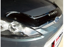 Дефлектор капота Ford Fiesta VI /2008-2012/. Мухобойка Форд Фиеста [Vip Tuning]