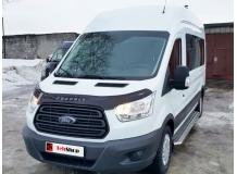 Дефлектор капота Ford Transit VII /2013+, T1/. Мухобойка Форд Транзит [Vip Tuning]