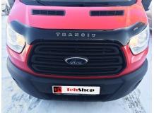 Дефлектор капота Ford Transit VII /2013+, T2/. Мухобойка Форд Транзит [Vip Tuning]