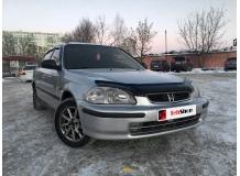 Дефлектор капота Honda Civic VI /1995-2000, EU/. Мухобойка Хонда Цивик [Vip Tuning]