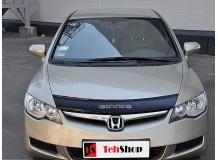 Дефлектор капота Honda Civic VIII /2006-2011, Седан/. Мухобойка Хонда Цивик [Vip Tuning]