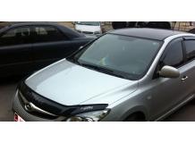 Дефлектор капота Hyundai Accent IV (Solaris) /2011-2014, длинный/. Мухобойка Хюндай Акцент [Vip Tuning]
