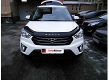 Дефлектор капота Hyundai Creta /2016+, длинный/. Мухобойка Хюндай Крета [Vip Tuning]