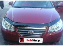 Дефлектор капота Hyundai Elantra HD /2006-2010/. Мухобойка Хюндай Элантра [Vip Tuning]