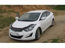 Дефлектор капота Hyundai Elantra MD /2010-2015, длинный/. Мухобойка Хюндай Элантра [Vip Tuning]