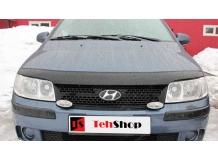 Дефлектор капота Hyundai Matrix /2000-2008/. Мухобойка Хюндай Матрикс [Vip Tuning]