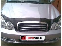 Дефлектор капота Hyundai Sonata EF /2001-2004, FL/. Мухобойка Хюндай Соната [Vip Tuning]