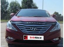 Дефлектор капота Hyundai Sonata YF /2010-2014/. Мухобойка Хюндай Соната [Vip Tuning]