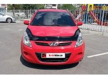 Дефлектор капота Hyundai i20 I /2008-2012, длинный/. Мухобойка Хюндай i20 [Vip Tuning]