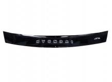 Дефлектор капота Hyundai i20 I /2008-2012, короткий/. Мухобойка Хюндай i20 [Vip Tuning]