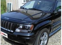 Дефлектор капота Jeep Grand Cherokee II (WJ) /1999-2004/. Мухобойка Джип Гранд Чероки [Vip Tuning]