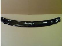 Дефлектор капота Jeep Grand Cherokee III (WK) /2004-2010/. Мухобойка Джип Гранд Чероки [Vip Tuning]