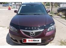 Дефлектор капота Mazda 3 I /Седан, 2003-2009/. Мухобойка Мазда 3 [Vip Tuning]