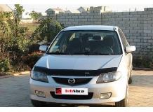 Дефлектор капота Mazda 323 (BJ) /FL, 2000-2003/. Мухобойка Мазда 323 [Vip Tuning]