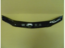 Дефлектор капота Mazda 626 (GF) /FL, 1999-2002/. Мухобойка Мазда 626 [Vip Tuning]