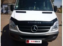 Дефлектор капота Mercedes Sprinter (W906) /2006-2013, длинный/. Мухобойка Мерседес Спринтер [Vip Tuning]