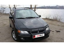 Дефлектор капота Mitsubishi Space Star I /1998-2005/. Мухобойка Мицубиси Спэйс Стар [Vip Tuning]