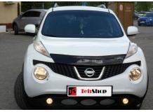 Дефлектор капота Nissan Juke /2010+/. Мухобойка Ниссан Джук [Vip Tuning]
