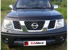 Дефлектор капота Nissan Navara D40 /2004-2010/. Мухобойка Ниссан Навара [Vip Tuning]