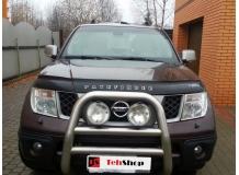 Дефлектор капота Nissan Pathfinder R51 /2004-2010/. Мухобойка Ниссан Пасфайндер [Vip Tuning]