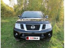 Дефлектор капота Nissan Pathfinder R51 /FL, 2010-2014/. Мухобойка Ниссан Пасфайндер [Vip Tuning]