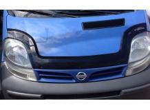 Дефлектор капота Nissan Primastar /2001-2014, длинный/. Мухобойка Ниссан Примастар [Vip Tuning]