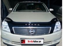 Дефлектор капота Nissan Teana J31 /2003-2008/. Мухобойка Ниссан Теана [Vip Tuning]