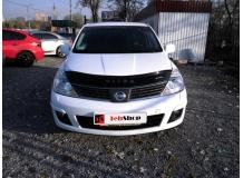 Дефлектор капота Nissan Tiida C11 /2004-2015/. Мухобойка Ниссан Тиида [Vip Tuning]