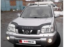 Дефлектор капота Nissan X-Trail T30 /2001-2007, длинный/. Мухобойка Ниссан ИксТрейл [Vip Tuning]