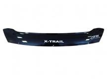 Дефлектор капота Nissan X-Trail T31 /2007-2014, короткий/. Мухобойка Ниссан ИксТрейл [Vip Tuning]