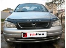 Дефлектор капота Opel Astra G /1998-2004/. Мухобойка Опель Астра [Vip Tuning]
