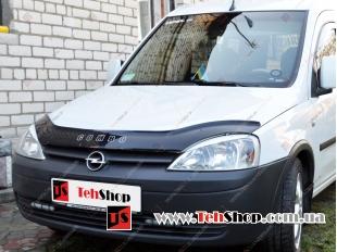 Дефлектор капота Opel Combo C /2001-2011/. Мухобойка Опель Комбо [Vip Tuning]