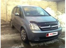 Дефлектор капота Opel Meriva A /2003-2010/. Мухобойка Опель Мерива [Vip Tuning]